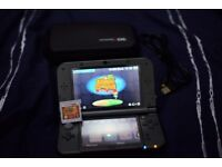 Almost Brand New Metallic Grey 3DS XL with 2 Games, Case, and USB Charger
