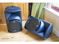 2 x Mackie SRM450 v2 Active Speakers with Bags - for DJ, Bands or as Monitors