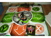 XBOX 360 DANCING STAGE UNIVERSE GAME WITH DANCE MAT