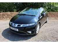 09 HONDA CIVIC 2.2i CTDI EX GT 5DR 'FACELIFT MODEL' ++ FULL SPEC inc SAT NAV , LEATHER & PAN ROOF ++