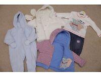Small WINTER BUNDLE Boys 3-6 months 6 ITEMS INC PRAM SUIT & 2 COATS