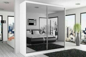 ***/*SLIDING MIRRORED CHICAGO WARDROBES IN 6 SIZES AND COLORS AVAILABLE ***