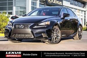 2014 Lexus IS 250 F-SPORT SERIES 2 / AWD/RED INTERIOR/ NAVIGATIO