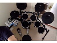 Electronic drum kit, monitor and accessories