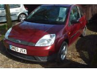 Ford Fiesta lx 2003-03-reg, 1242cc petrol, 155,000 miles, new MOT upon purchase,
