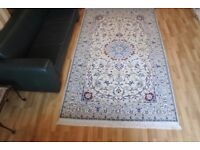 Very High quality Fine Hand-knotted Persian Rug Nain wool+silk 280cmX165cm
