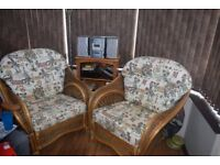 2 x Wicker Conservatory chairs