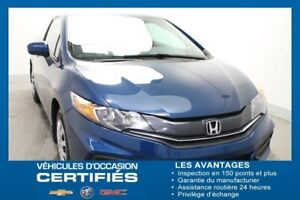 2015 Honda Civic Coupe LX+AIR CLIM+BLUETOOTH+CAM.REC