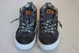 Converse All Star boys' high top trainers, size 12.5, never worn, as-new condition