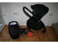 iCandy Peach DC Black / orange pram pushchair 2 in 1 CAN POST