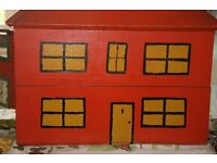 Early 1950's hand made dolls house, with some furniture
