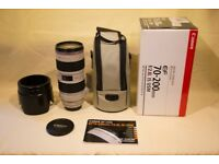 Canon EF 70-200mm f2.8 IS lens