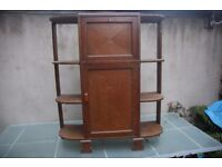 Unusual vintage shelving/sideboard unit