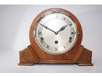 1930'S WOODEN MANTEL CLOCK with Westminster Chime