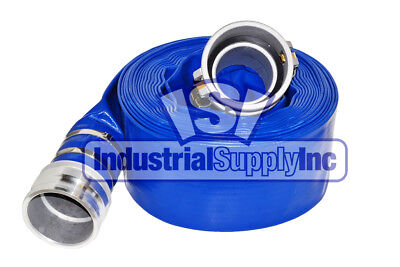 Water Discharge Hose 4 X 50 Ft Blue Camlocks Import Free Shipping