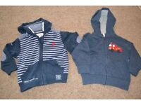 NEXT - TWO HOODIES AGE 1 TO 2 YEARS