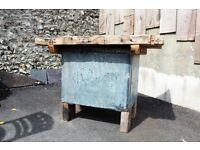 Reclaimed Vintage Outdoor Pine Top Table