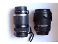 Canon EFS 55-250,Sigma 18-50 lens Suit Canon Digital,selling together both very good lenses