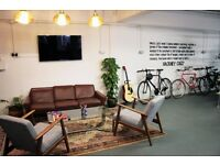 Bright and airy loft style studio in London Fields - Fixed desks from just £175pm