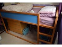 Cabin Bed, Child's Reversible Ikea Kura Bed