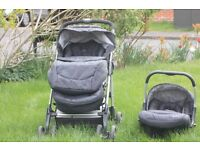 Silver Cross pram and travel system + car seat only for £100