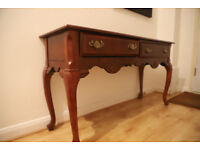Antique Style Wooden Console Table with draws