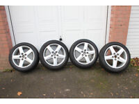 AUDI VW R17 225/50 AUDI WINTER WHEELS X 4