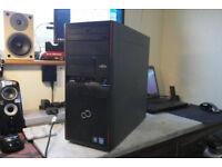 Mega fast Fujitsu PC tower. 12GB DDR3 RAM. NVIDIA GeForce GT 340 1GB graphics card