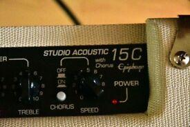 epiphone studio acoustic guitar amp
