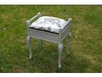 Shabby chic style piano stool