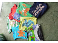 bundle of 7 t-shirts/tops age 4-5yrs
