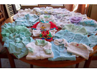 JOB-LOT OF 100 ITEMS OF 'VINTAGE STYLE' BABY CLOTHES & MORE! SEE PICS!