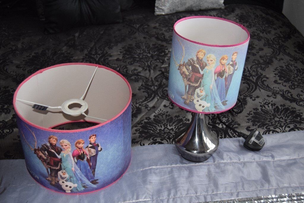 FRozen Lamp and lamp shade for sale