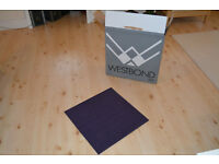 New carpet tiles - purple - boxed - collection only