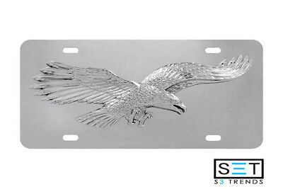 Stainless Steel 3D Eagle License Plate for Car Truck SUV  Eagles Stainless Steel Plate