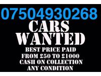 ☎️ 07504930268 WANTED CAR VAN BIKE SELL YOUR BUY MY SCRAP FOR CASH Z