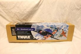 "[BRAND- NEW] THULE 746 SKI & SNOWBOARD ""CARRIER"" (PAIR) BOXED, ""Only a few Remaining"" BARGAIN."