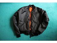 Urban Renewal Vintage Surplus MA1 Black Bomber Jacket