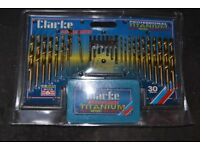 CLARKE 30 PIECE TITANIUM DRILL SET