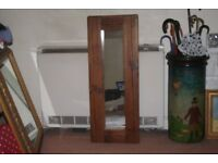 antique solid wood framed mirror