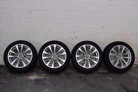 BMW 3 Series 2013 on set of 4 alloys and run flat tyres. 17in