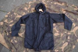 Genuine MoD Issue Black Ripstop Windproof Field Jacket / Smock (size XL)