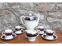 Vintage Crown Ducal A.G.R. Coffee Service Milk Jug Coffee Pot 4 Cups & Saucer Tea Set Tea Service