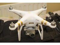 Phantom 3 Professional. 4K camera. Spare battery. Spare propellers.
