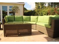 Brand New Katie Blake Garden 9 Seater Unit with Individual Chair.
