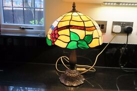 Tiffany Lamp - Height 17 inches, Width 11 inches. Good Condition