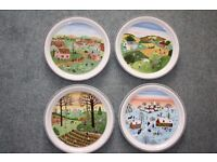 "Set of 4 Villeroy and Boch ""The Four Seasons"""