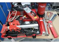 Hilti Diamond Drill DD 120, Drilling Kit, Vacuum Base, Water Feed and Core Bits