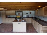 Magnet kitchen units, granite worktop, Neff electric hob, fridge & freezer, sink and tap