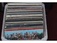 Collection of about 80 vinyl LP's, and about 50 singles, pop and rock